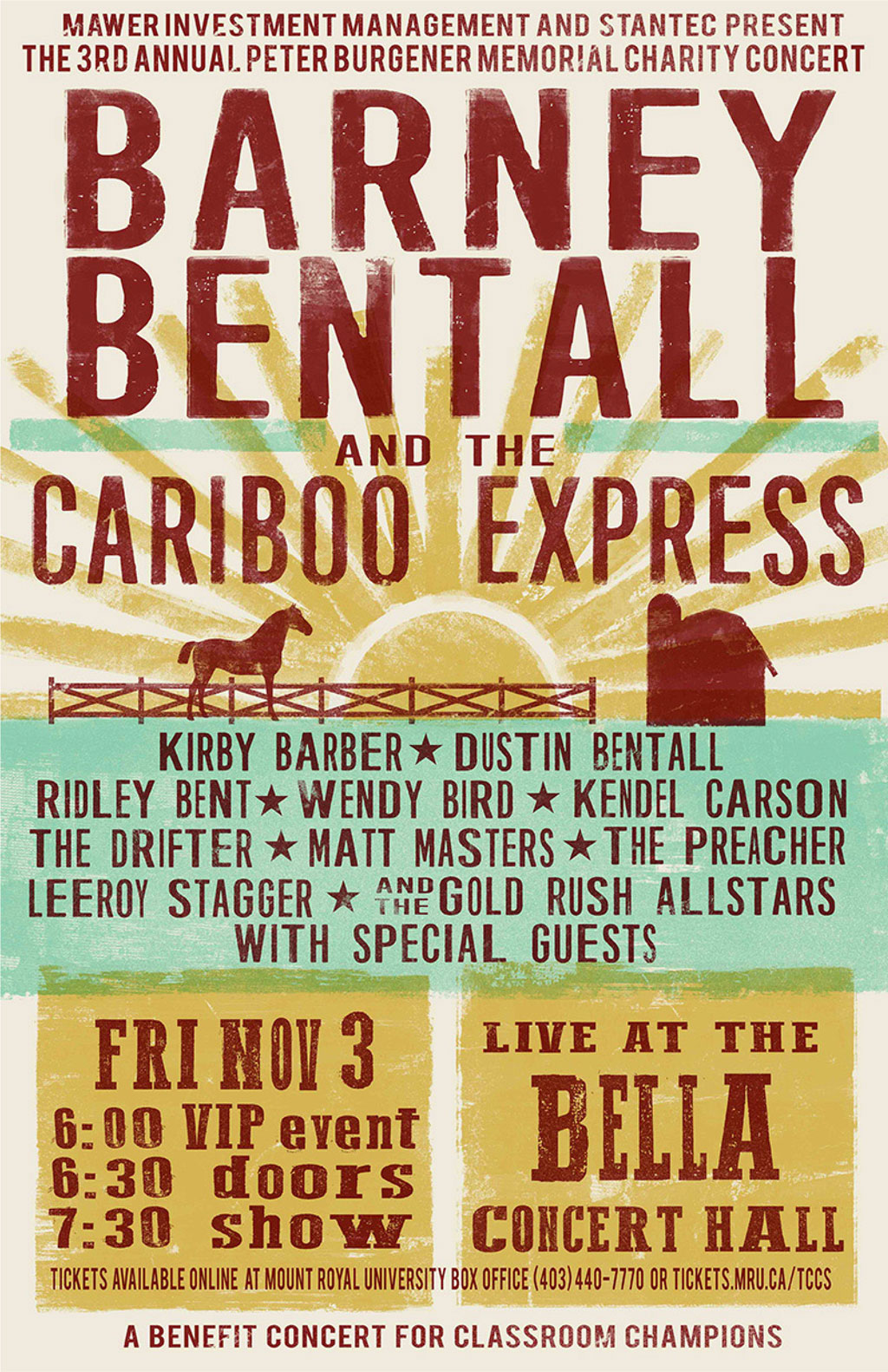 Barney Bentall & The Cariboo Express 2017