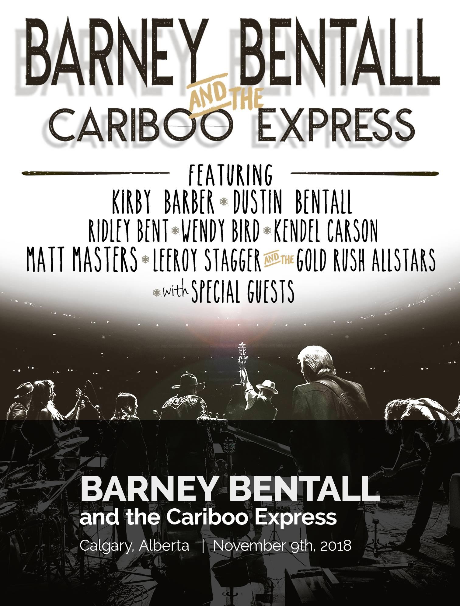 Barney Bentall & The Cariboo Express 2018