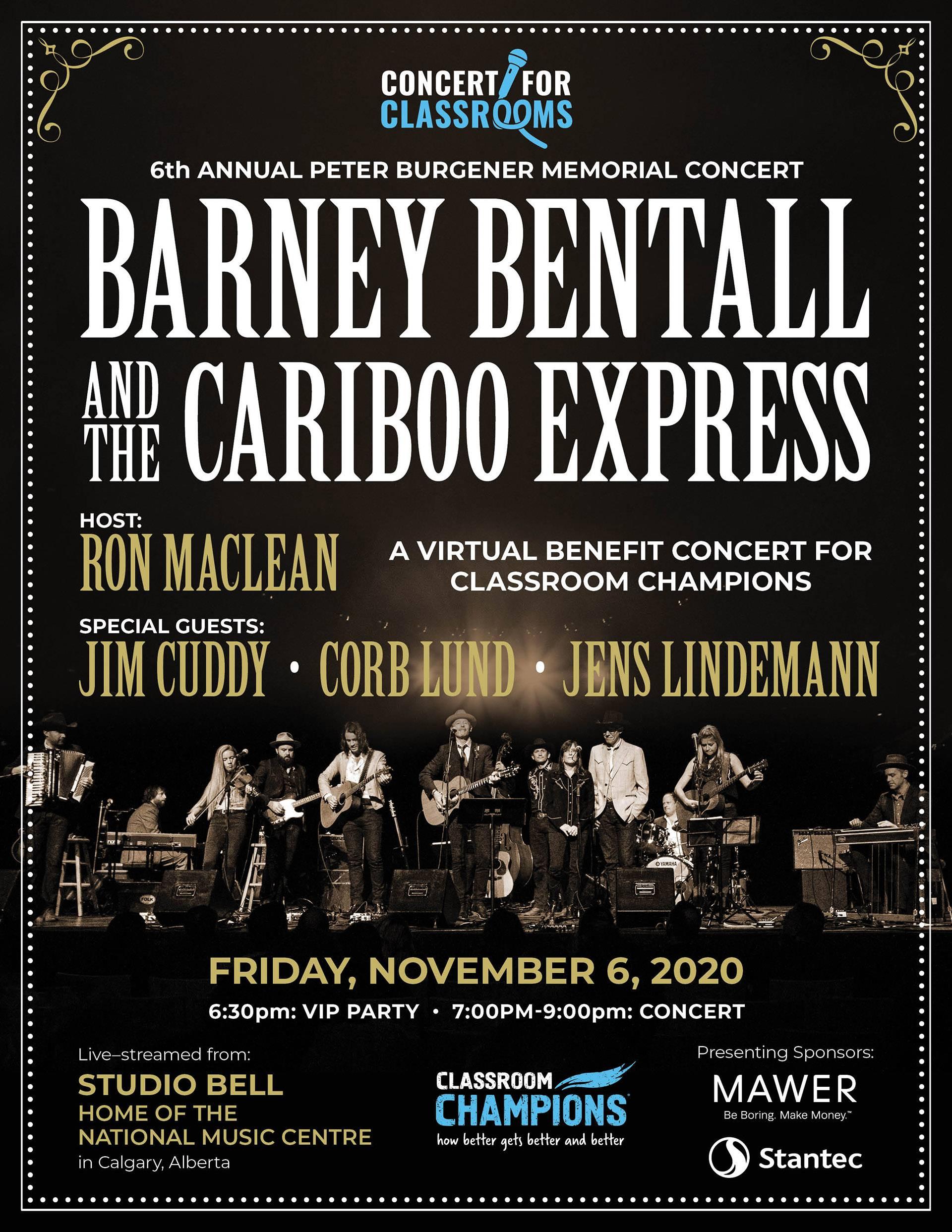 Barney Bentall & The Cariboo Express 2020